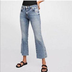Free People High Rise kick crop jeans